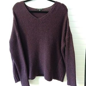 EILEEN FISHER | Purple Merino Wool Sweater Size M
